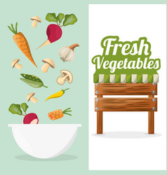 Fresh vegetables bowl food market image vector
