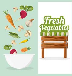 fresh vegetables bowl food market image vector image