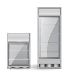Fridge Drink Glass door vector image