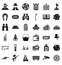 Games for adult icons set simple style vector