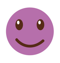 happy emoticon face kawaii style vector image