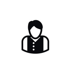 Isolated manager icon mister element can vector