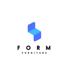modern minimalistic furniture logo template vector image