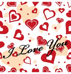 Seamles romantic background with text vector image