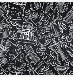 Seamless pattern coffee vector