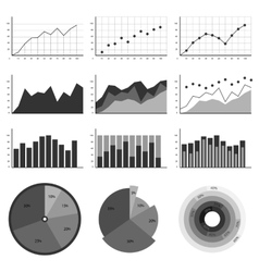 Set of elements for infographics charts graphs vector