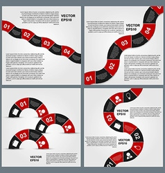 Set of Infographics design template vector image