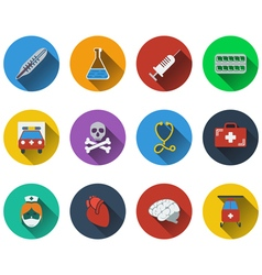 Set of medical icon in flat design vector image