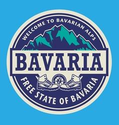Stamp or emblem - Bavaria vector image vector image