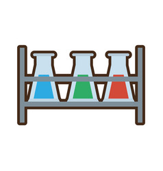 Test tube laboratory research rack vector