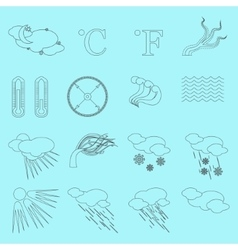 Weather Line Icons vector image vector image