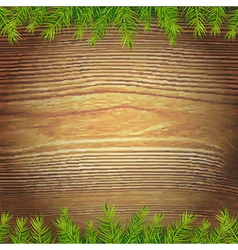 Xmas wood background vector