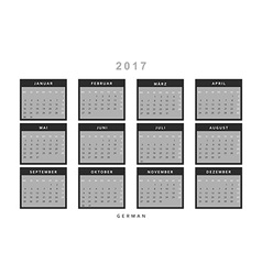 Calendar 2017 in german simple modern vector