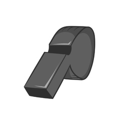 Whistle of referee icon black monochrome style vector