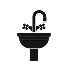 Ceramic sink icon simple style vector