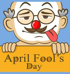 April fools day funny glasses nose vector