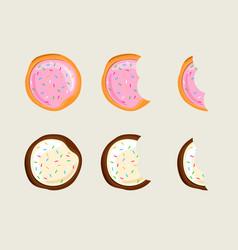 biscuit cracker set vector image
