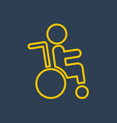 Disabled icon logo vector