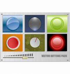 buttons pack vector image