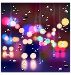 Night rainy street vector