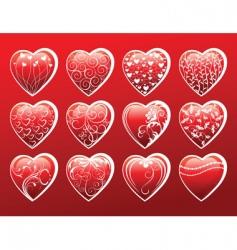 hearts symbols vector image