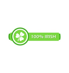 Stamp with clover leaf vector
