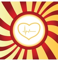 Cardiology abstract icon vector