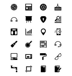 Tools icons 5 vector