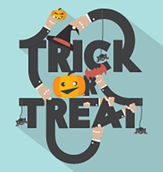 Trick or treat typography design vector