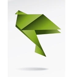 Origami japan paper flying bird vector image