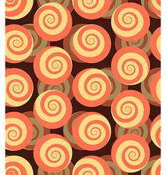 Spiral seamless pattern 3d background of snails vector