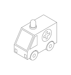 Ambulance icon isometric 3d style vector