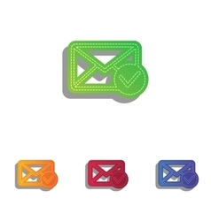 Mail sign with allow mark colorfull vector