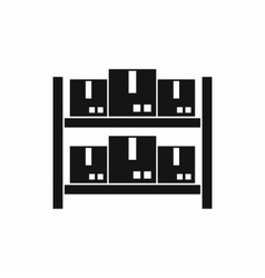 Storage of goods in warehouse icon simple style vector
