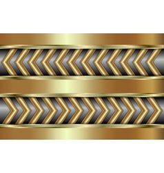 Abstract golden background with zigzag in tabloid vector