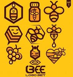 BEE LOGO SET 1 vector image