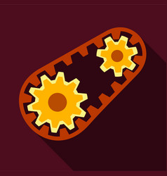 Belt and gear icon flat style vector