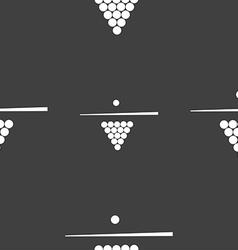 Billiard pool game equipment icon sign seamless vector