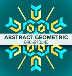 blue yellow green abstract geometric mandala vector image