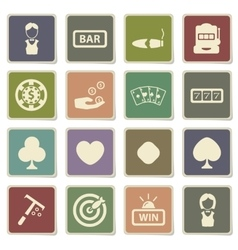 Casino simply icons vector image vector image