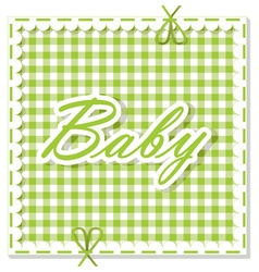 Checkered background baby vector
