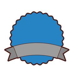 Circle seal emblem icon vector