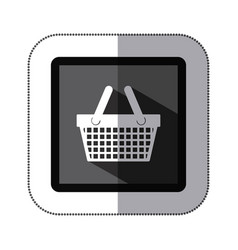 contour basket shop icon vector image