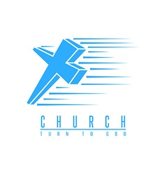 Cross logo church spirituality religion symbol vector image