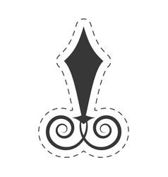 Decoration ornament swirl object vector