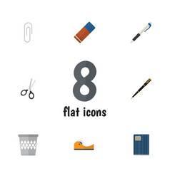 Flat icon stationery set of rubber duct pencil vector