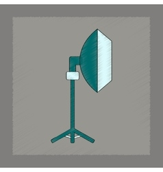 flat shading style icon professional lighting vector image
