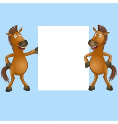 funny horse vector image