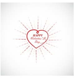 Happy Valentine s day lettering card vector image