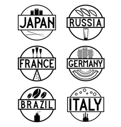 international food marks labels set vector image
